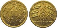50 Rentenpfennig 1923  G Weimarer Republik  Vorzüglich - Stempelglanz  75,00 EUR  zzgl. 5,00 EUR Versand