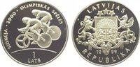 Lats 1999 Baltikum-Lettland  Polierte Platte  39,00 EUR  zzgl. 5,00 EUR Versand