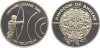 100 Ngultrum 1998 Bhutan Jigme Singye Wangchuk seit 1972. Polierte Platte  24,00 EUR  zzgl. 5,00 EUR Versand