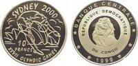 10 Francs 1999 Kongo DR  Polierte Platte  29,00 EUR  zzgl. 5,00 EUR Versand
