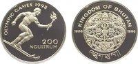 200 Ngultrum 1996 Bhutan Jigme Singye Wangchuk seit 1972. Polierte Platte  14,00 EUR  zzgl. 5,00 EUR Versand