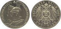 2 Mark 1901 Preußen Wilhelm II. 1888-1918. Minimal berieben, Polierte P... 95,00 EUR  zzgl. 5,00 EUR Versand
