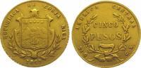 5 Pesos Gold 1867  GW Costa Rica Republik seit 1848. Sehr schön +  1150,00 EUR kostenloser Versand