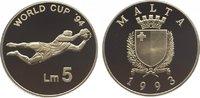 5 Liri 1993 Malta Republik seit 1974. Polierte Platte  29,00 EUR  zzgl. 5,00 EUR Versand