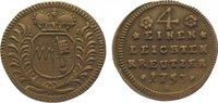 Cu 1/4 Leichter Kreuzer 1753 Würzburg, Bistum Karl Philipp von Greiffen... 30,00 EUR  zzgl. 5,00 EUR Versand