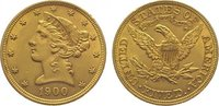 5 Dollars Gold 1900 Vereinigte Staaten von Amerika  Winz. Randfehler, f... 345,00 EUR  plus 10,00 EUR verzending