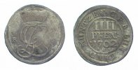 4 Pfennig 1702  RB Braunschweig-Calenberg-Hannover Georg Ludwig 1698-17... 125,00 EUR  zzgl. 5,00 EUR Versand