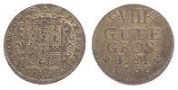 8 Gute Groschen 1756 Braunschweig-Wolfenbü...