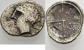 GALLIEN AR Obol ca. 90-49 v . C Knapp sehr schön MASSILIA 30,00 EUR  zzgl. 3,00 EUR Versand