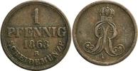 1 Pfennig 1863 Deutschland/ Hannover Gekröntes Monogramm ss  6,00 EUR  zzgl. 2,20 EUR Versand