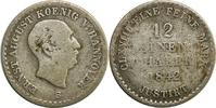 1/12 Taler 1842 Deutschland/ Hannover Ernst August (1771-1851) schön  12,00 EUR  zzgl. 2,20 EUR Versand