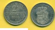 Oldenburg 2 1/2 Groschen 1858 B fast stgl  59,00 EUR  zzgl. 4,00 EUR Versand