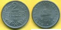 2 Filler 1918 Ungarn Franz Josef I. 1848-1916 stgl unc  19,00 EUR  plus 3,00 EUR verzending