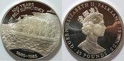 25 Pfund 1978 Bahamas 100 Jahre Selbstversorgung,  S.S. Great Britain PP orginal Box, Zertifikat