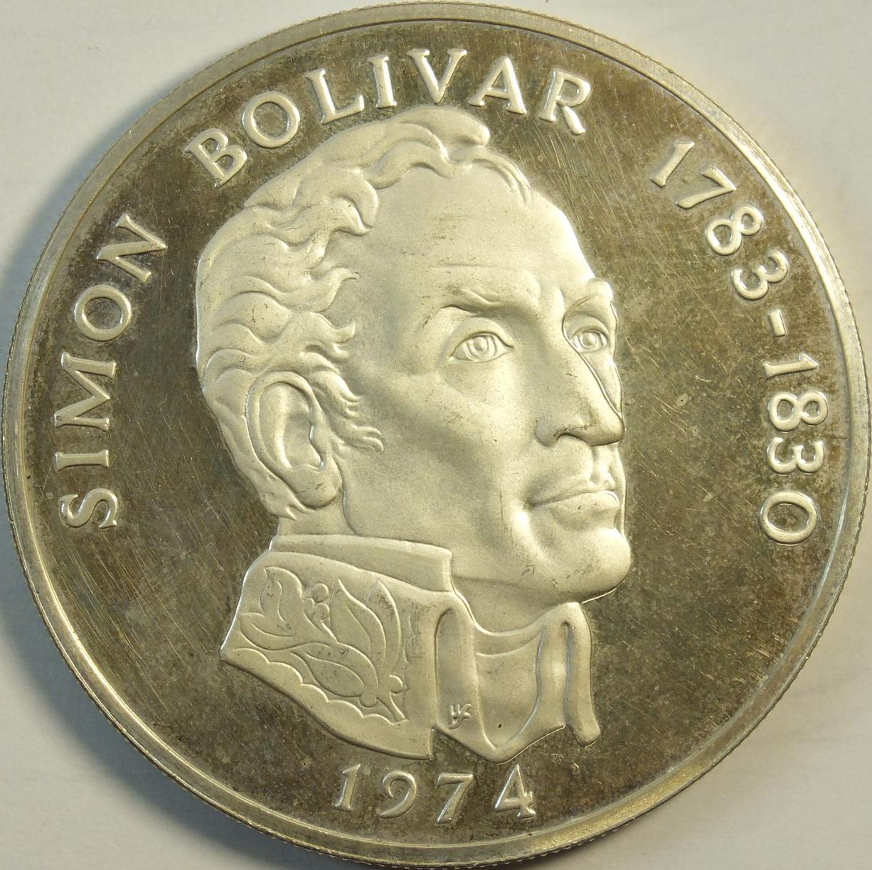 20 Balboas 1974 Pannama Simon Boliva PP