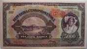 5000 Kronen 1920 Tschechoslowakei Specimen 1  59,00 EUR  zzgl. 4,50 EUR Versand