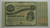 5 $ 1886 USA State of Lusiana 1  110,00 EUR  zzgl. 4,50 EUR Versand