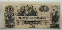 20 $ 18.. USA  Canal Bank of New Orleans unsigniert 1    145,00 EUR