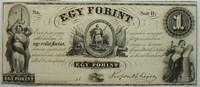 1 Forint 1852 Ungarn Hungarian Fund  signiert 1  105,00 EUR  zzgl. 4,50 EUR Versand