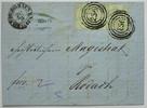 1 Kr 1859 Thurn & Taxis Michel 41 Paar  (2 mal) - 256 - auf Kab. Brief ... 75,00 EUR  zzgl. 4,50 EUR Versand
