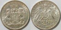 3 Mark 1909 Hamburg Kursmünze ss  28,00 EUR inkl. gesetzl. MwSt., zzgl. 4,50 EUR Versand