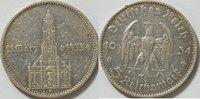 5 RM 1934 A 3. Reich Garnisonskirche mit Datum ss  20,00 EUR inkl. gesetzl. MwSt., zzgl. 4,50 EUR Versand