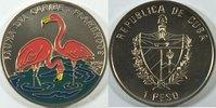 1 Peso 1994 Kuba Bedrohte Tierwelt Flamingo farbig st  29,00 EUR inkl. gesetzl. MwSt., zzgl. 4,50 EUR Versand