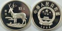 10 Yuan 1994 China Hirsch  Auflage : 4825 Stück PP  126,00 EUR inkl. gesetzl. MwSt., zzgl. 4,50 EUR Versand