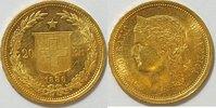 20 Franken 1886 Schweiz  vz  389,00 EUR kostenloser Versand