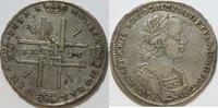 1 Rubel 1723 Russland Peter der Große ss  1560,00 EUR kostenloser Versand