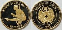 100 Paanga Gold 1993 Tonga Olympische Spiele 1992 17,7 Gramm .583 Gold ... 520,00 EUR kostenloser Versand