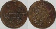 3 Pfennig 1763 D Brandenburg Preussen Aurich Ostfriesland ss  25,00 EUR inkl. gesetzl. MwSt., zzgl. 4,50 EUR Versand