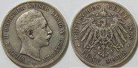 5 Mark 1898 Kaiserreich Preussen 5 Mark Wilhelm I Kursmünze ss  35,00 EUR inkl. gesetzl. MwSt., zzgl. 4,50 EUR Versand