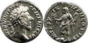 AR Denarius AD 161-180  Marcus Aurelius, SS+VZ