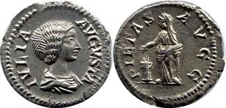 AR Denarius  Römische Kaiserzeit Julia Domna XF+UNC