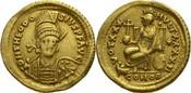 Solidus 408-450 n.Chr. Konstantinopel Theo...