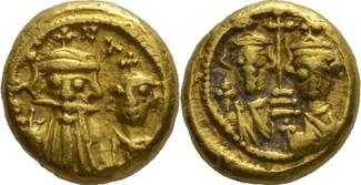 Solidus 641-668 n.Chr. Karthago Constans I...