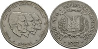 "Dominikanische Republik 50 Centavos / Medio Peso Präsident der Dominikanischen Republik 1987 ""Joaquín Antonio Balaguer Ricar"