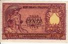 100 Lire 1951 Italy ITALIA P.92b I-