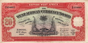 10 Shillings 1948 British West Africa TREE...