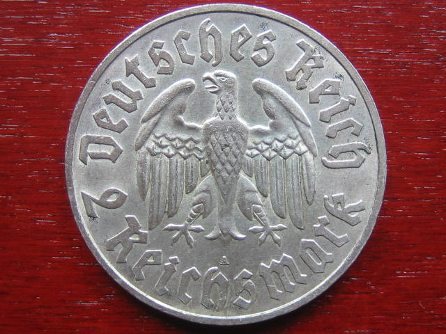 III.Reich Luther 2 Mark 1933 2 Reichsmark 1933 A vz-Stgl.