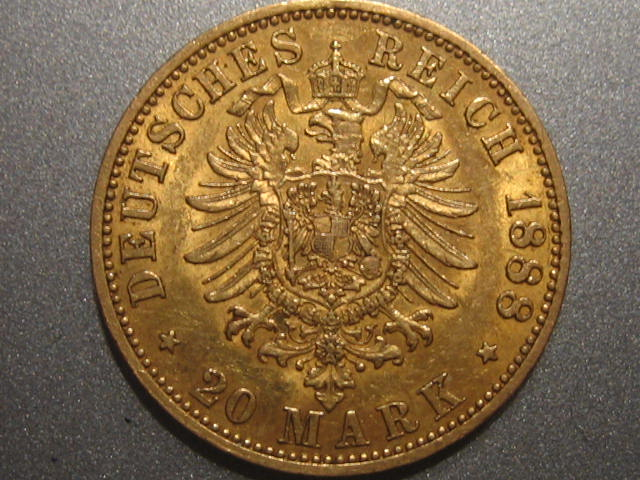 20 Mark Gold 1888 A Preussen Preussen 20 Mark 1888 A Friedrich III. f.vz