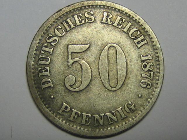 50 Pfennig 1876 H Kaiserreich Kaiserreich 50 Pfennig 1876 H s-ss