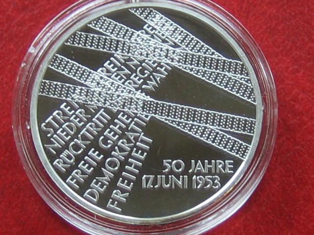 10 Euro 2003 BRD BRD 10 Euro 2003 17.Juni 1953 PP Proof Spiegelglanz