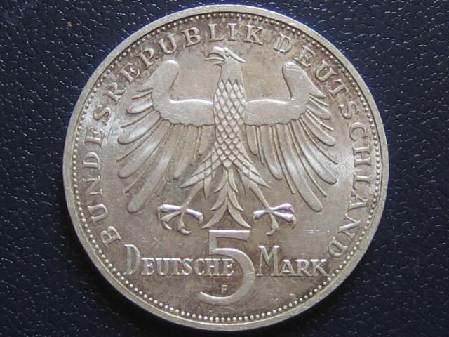 5 DM 1955 F BRD BRD 5 DM 1955 F Schiller f.Stgl.