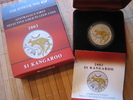 Australien 1 Dollar Australien Kangaroo 1 Dollar 2003 BU Gold plated