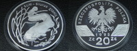 20 Zlotych 1995 Polen Sum Wels Proof  199,00 EUR  zzgl. 7,00 EUR Versand