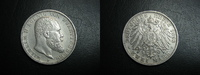 2 Mark 1893 Württemberg Wilhelm II. ss-vz  49,95 EUR