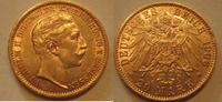 Preussen 20 Mark Preussen Wilhelm II. Gold