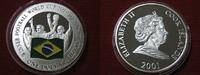 1 Dollar 2001 Cook Islands Fussballweltmeisterschaft Brasilien  Silber ... 24,95 EUR